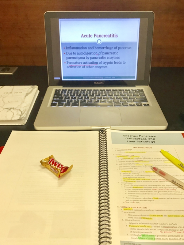 Typical study set up: Pathoma and some sort of snack. Gotta have a little pick me up now and then!
