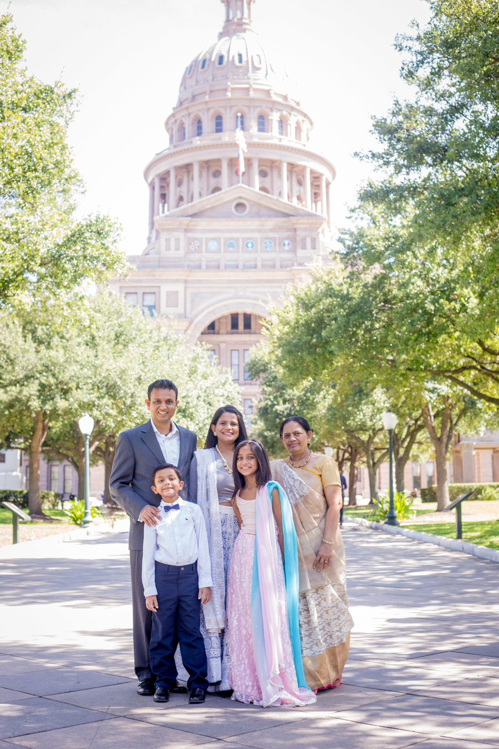 Family Portrait Texas Capitol