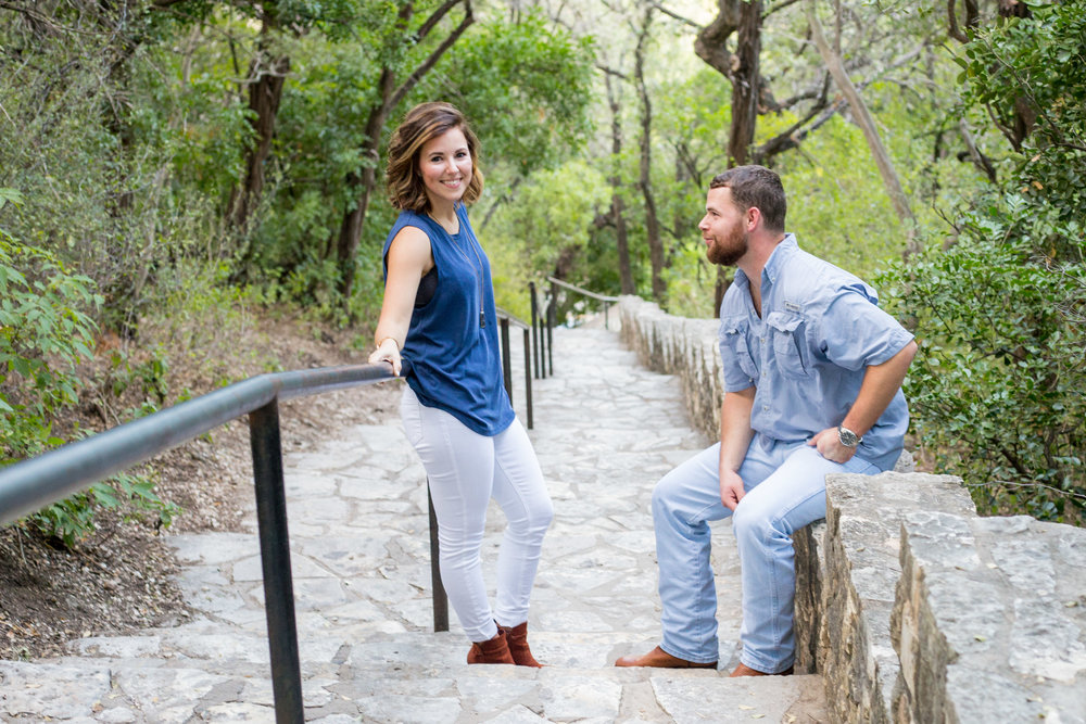 Engagement and Proposal at Mt. Bonnell in Austin