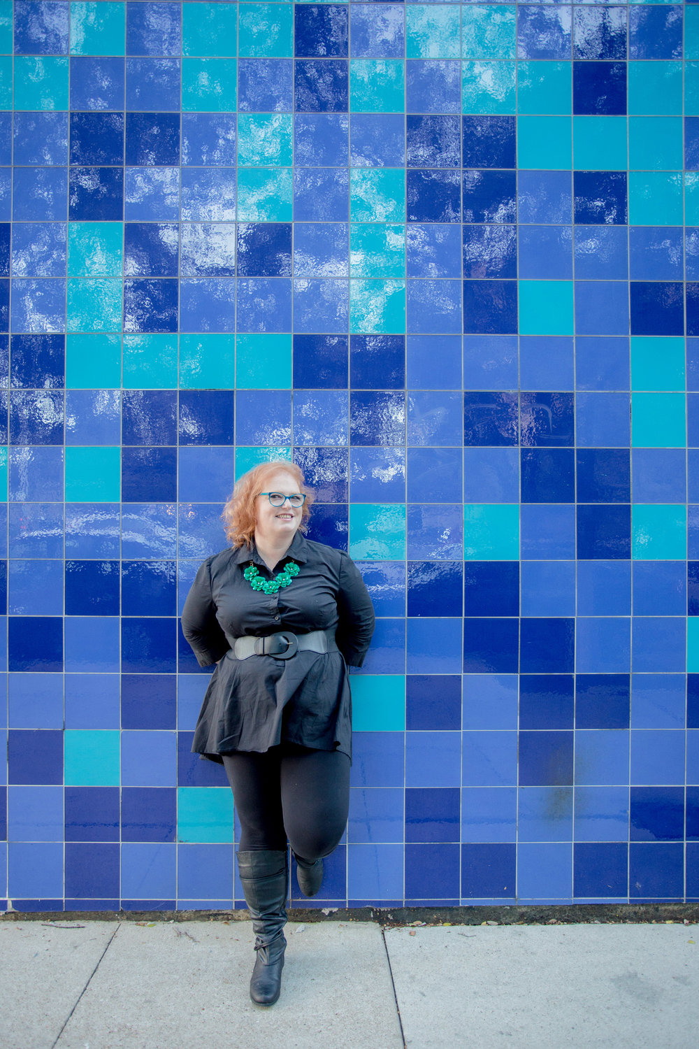 Portraits in Austin at the Blue Tiled Wall