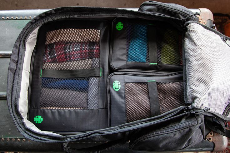 Packing Cubes - Utilizing packing cubes in combination with your travel backpack is a winning combo. It's tough to live straight out of your bag and inefficient to fully unpack your bag, particularly if doing multiple stays. With cubes you simply unzip, flip the lid to the bottom, and place in drawer. Each cube is designated for a particular item, such as shirts, shorts, or undergarments. There may be loose items such as your packable rain coat or a rolled up pair of pants that fill in the gaps in your bag. I use a medium compression bag for dirty clothes and also utilize shoe bags.