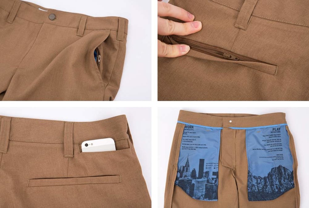 Clothing - Sorry ladies, this is primarily catered to men, although the concept holds true. I try and find travel clothes that I can wear on a daily basis as the benefits of non-wrinkle and wicking still apply.* Bluffworks Travel Clothes (shhh, they have secret pockets)* Prana Clothing (men and women)* Kuhl Clothing (men and women)* Compression Socks (long, for plane)* Compression Socks (short, for day use)* Antimicrobial Underwear