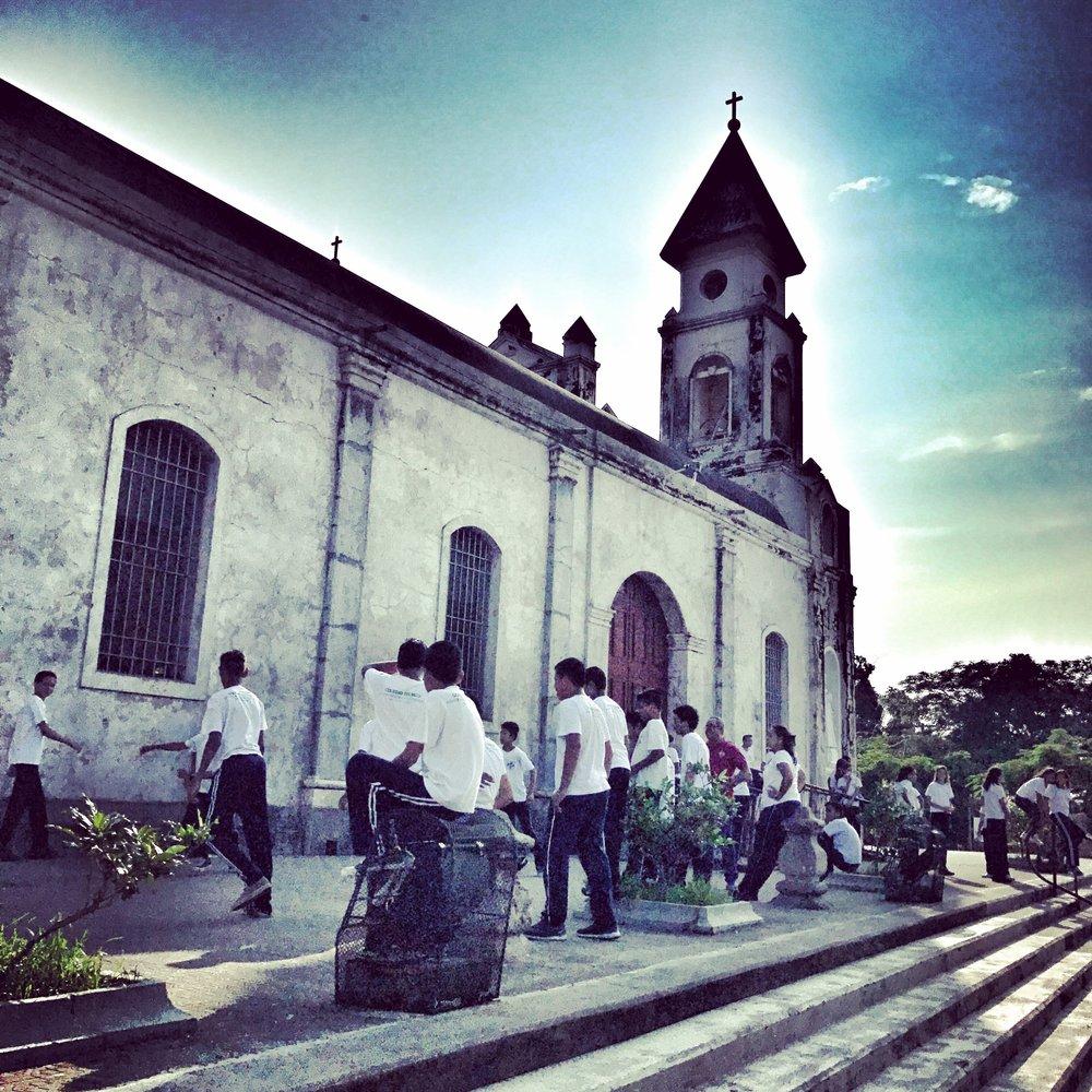 Kids at play before school,Granada Nicaragua