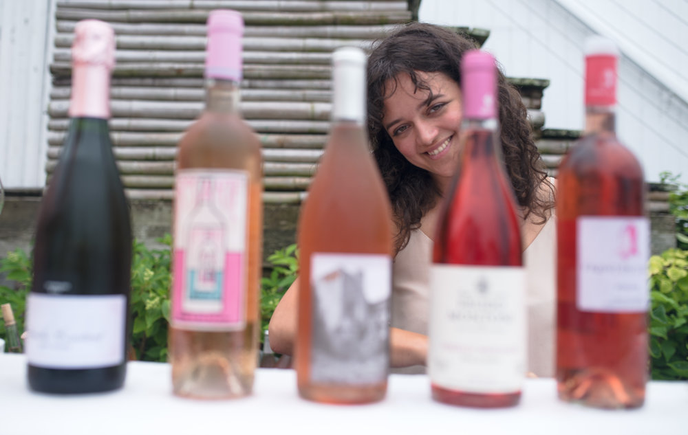 The rosé tasting bar curated by head sommelier Kimberly Prokoshyn. Photo: Madison McGaw/BFA.com.