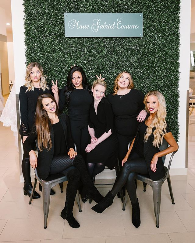 🤗 Our Marie Gabriel team! Loving these new images from @stacyablephotography of our super talented stylists! And don't worry, Young & Anne-Marie are still a part of the team- just standing next to the camera cracking up! ✌🏻