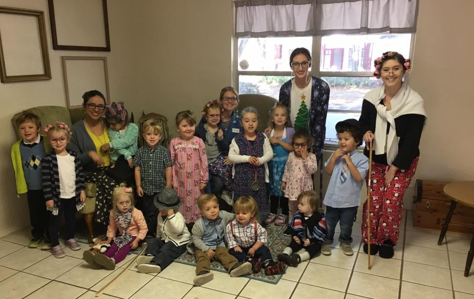 On March 13, 2018 we celebrated our 100th Day of School! The children were encouraged to dress like they were 100 years old!