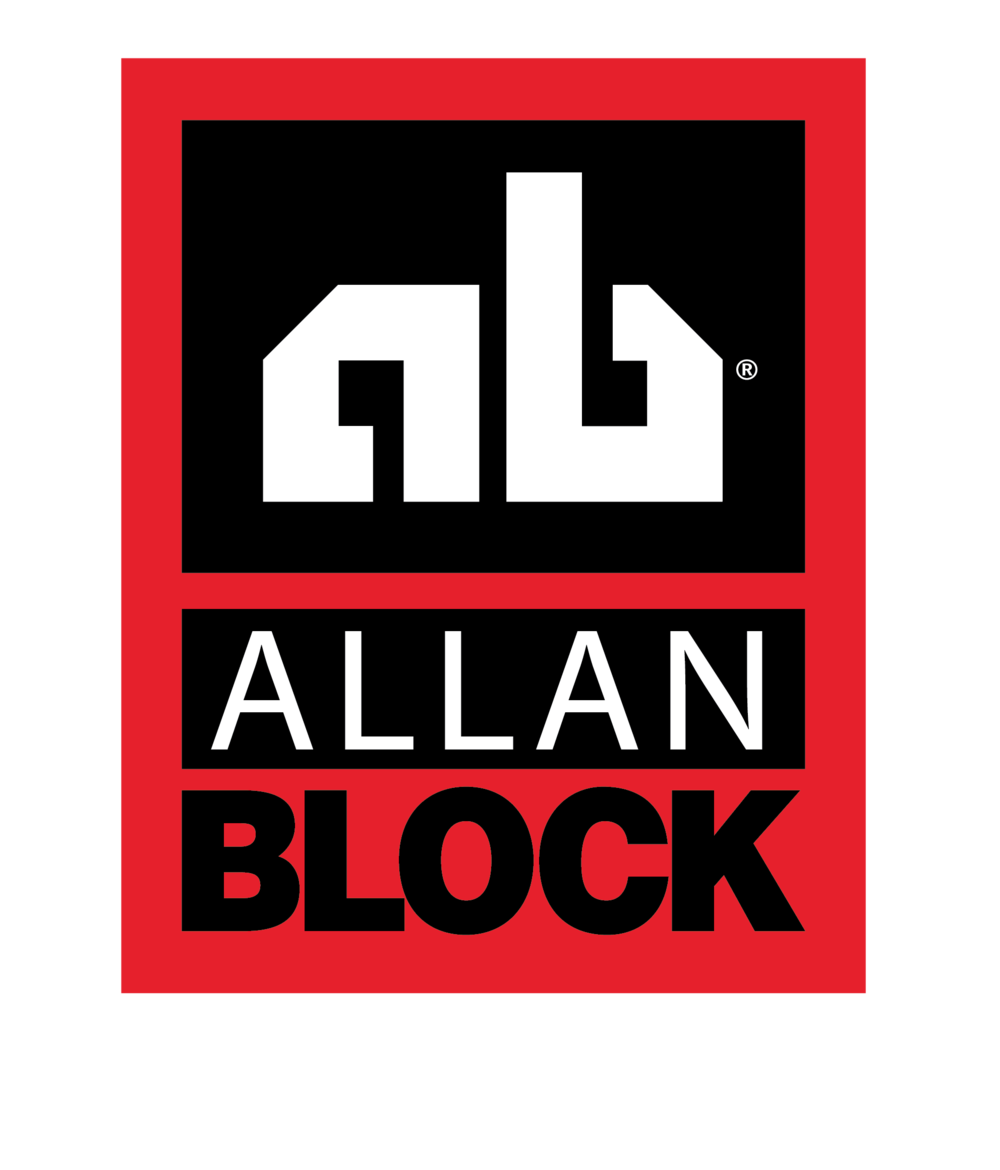 In all of our retaining walls we use textured Allan Block. -