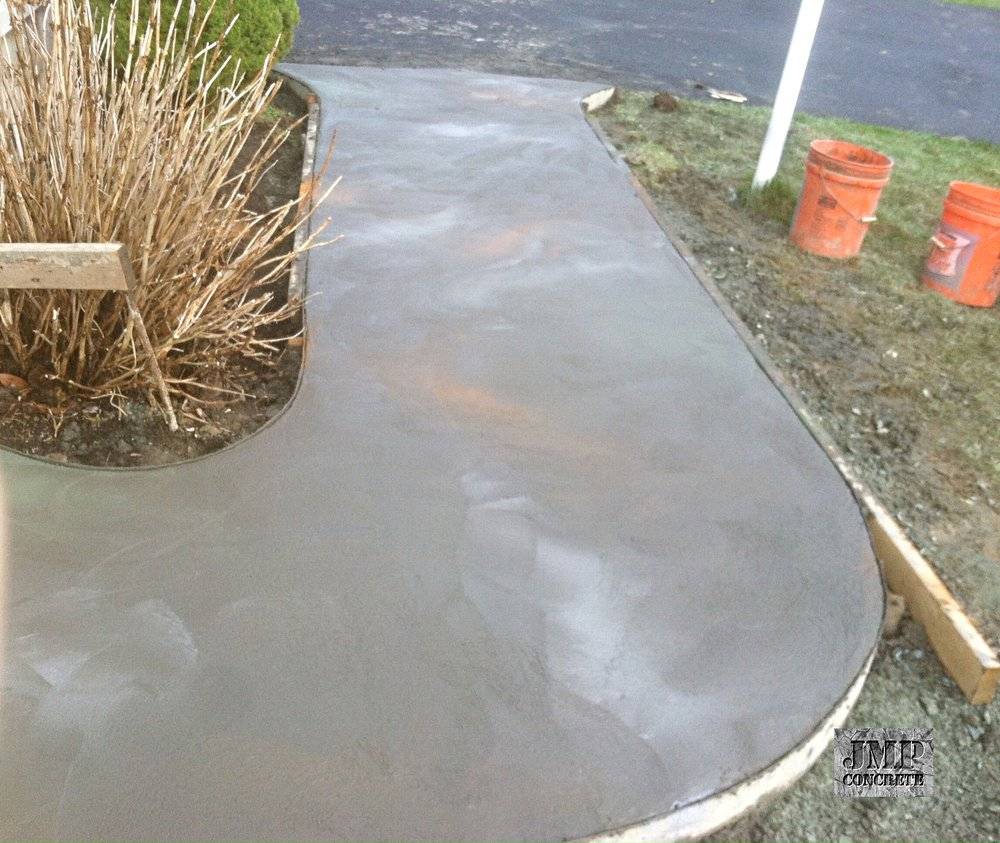 Initial pour - not sealed
