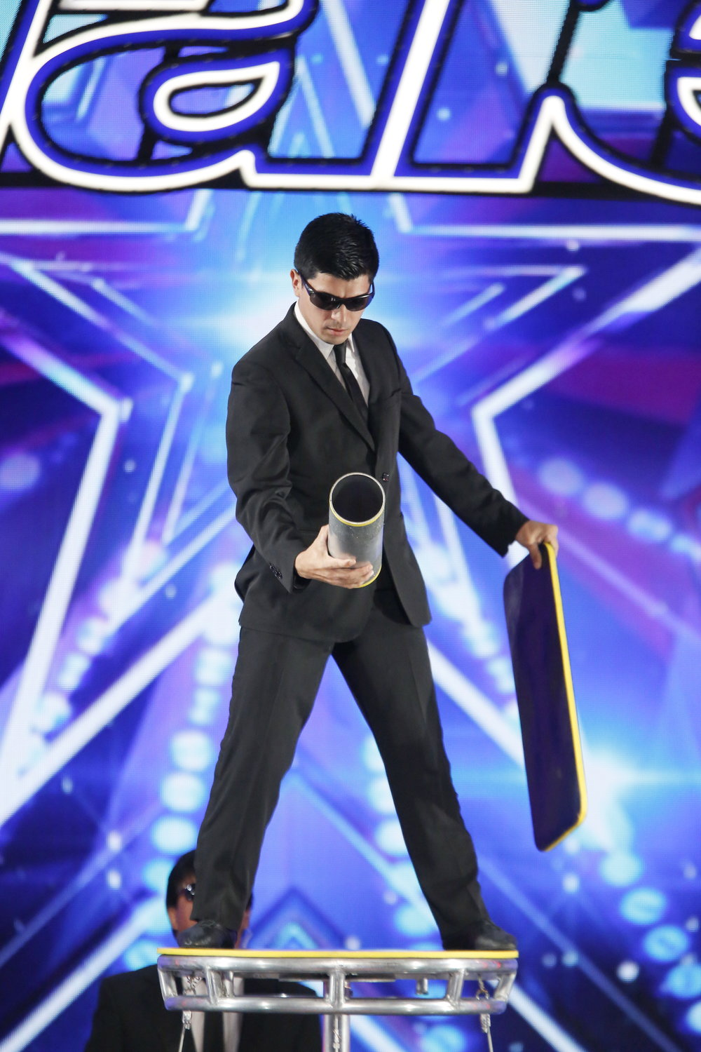 Jonathan preparing for his Rolla Bolla Audition, America's Got Talent S12