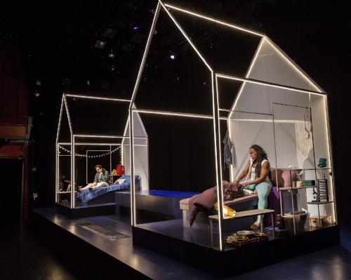 """Allain-Marcus, left, and Anyanwu on Stephanie Kerley Schwartz's set for """"Good Grief."""" (Craig Schwartz)"""