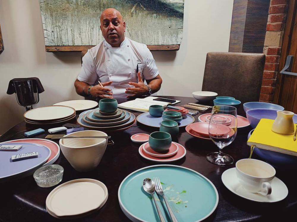 Initial design meeting with restaurant sat bains, Nottingham, april 2019