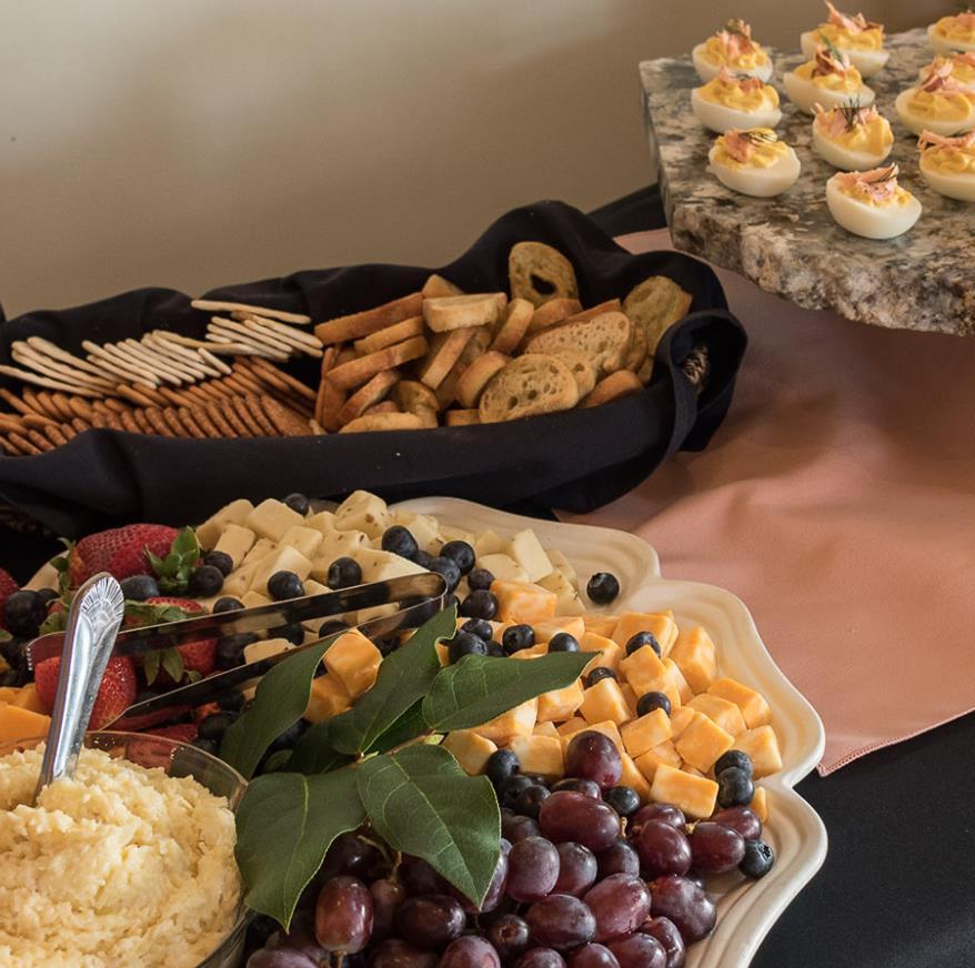 Cheese and fruit crackers and deviled eggs display.jpg