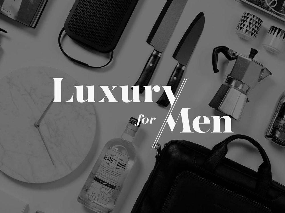 Brand identity strategy & design   LUXURY FOR MEN