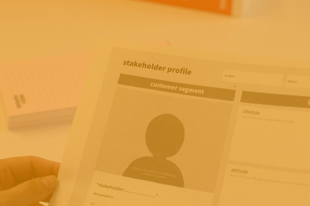 Stakeholder Mapping - In combination with the Customer Journey mapping this tool gives you great insights in your stakeholders.© Edmire.Design