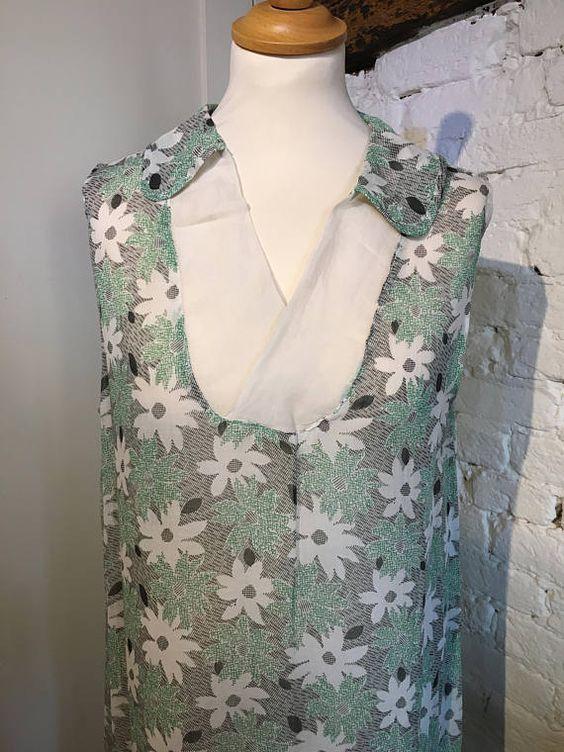Pretty Original 1092s Daisy Print Cotton Dress   $184.50
