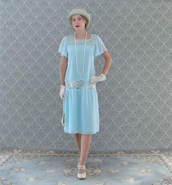 Sweet light blue Great Gatsby dress   $130.00