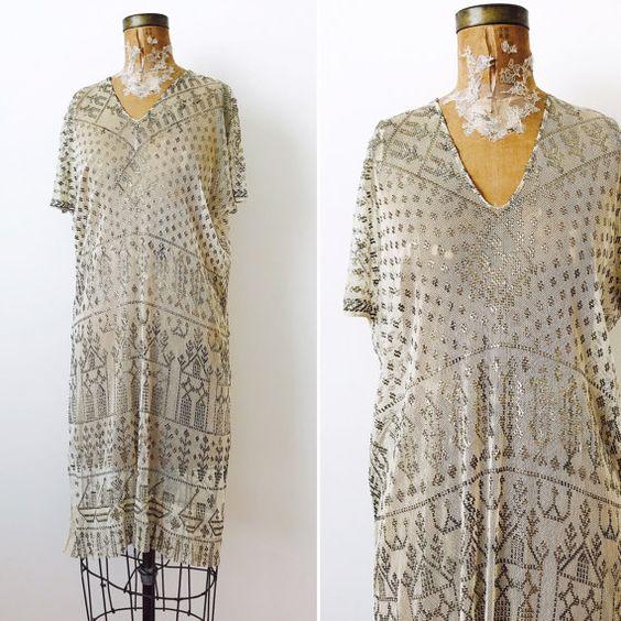 Incredible 1920s Egyptian Assuit Dress   $1150.00