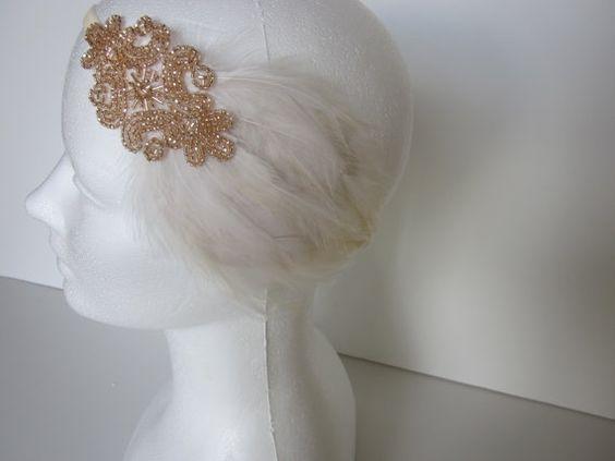 Flapper Dress fascinator Headpiece   $30.00