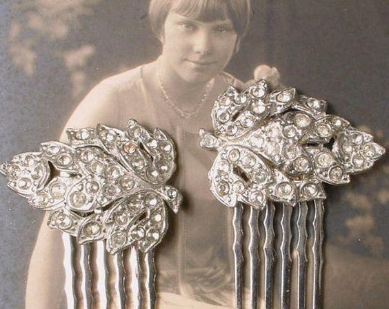 AUTHENTIC 1920s Hair Comb PAIR   $117.99