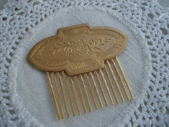 Gold Hair Comb 1920's   $35.00