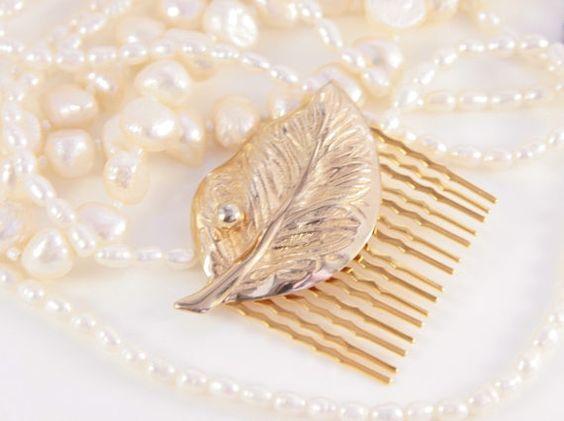 Leaf Hair Comb Gold Hair Clip   $71.99
