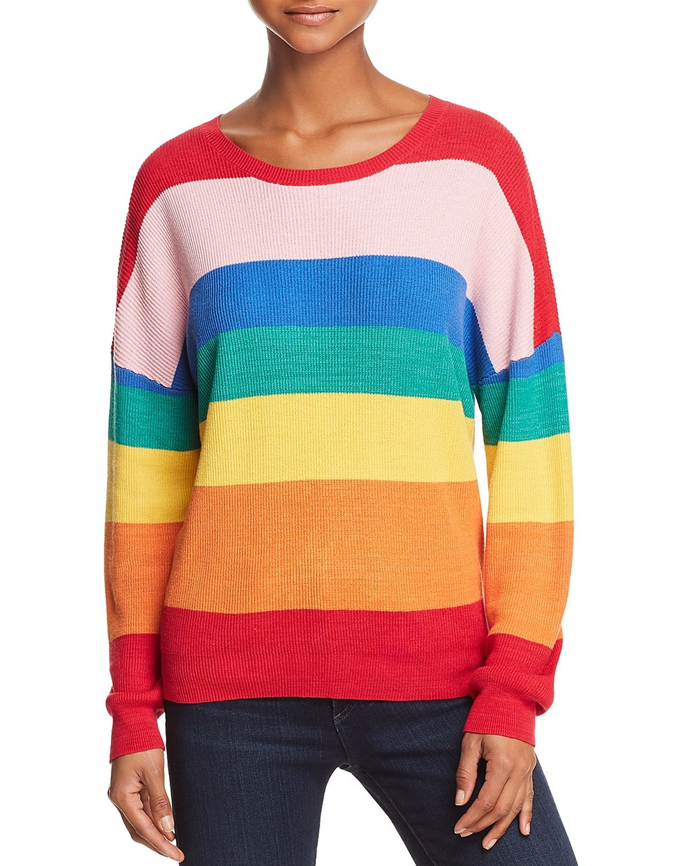 HONEY PUNCH Rainbow striped sweater, $60 Bloomingdales.com