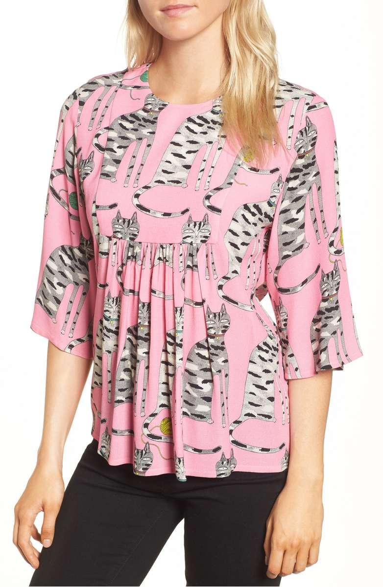 PAUL & JOE SISTER Cat print blouse, $245 Nordstrom.com