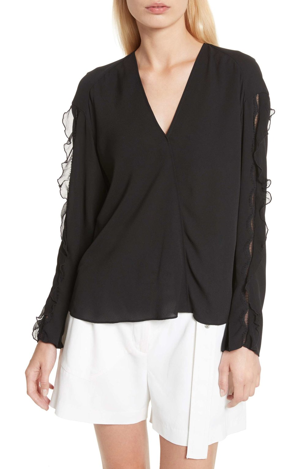 PHILIP LIM Ruffle sleeve silk blouse, $395 Nordstrom.com