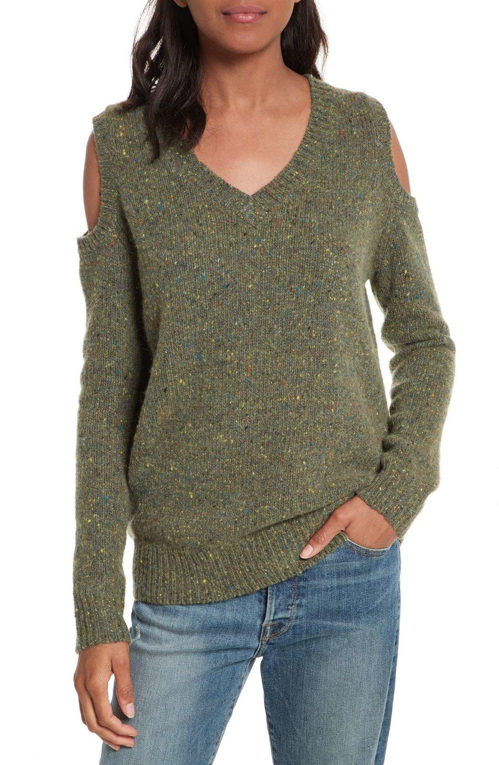 REBECCA MINKOFF Page Cold Shoulder sweater, $88.80 Nordstrom.com