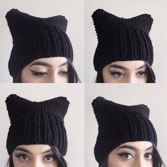 STEVIE AND STELLA CO. Pussy Hat in black, $30 Etsy.com