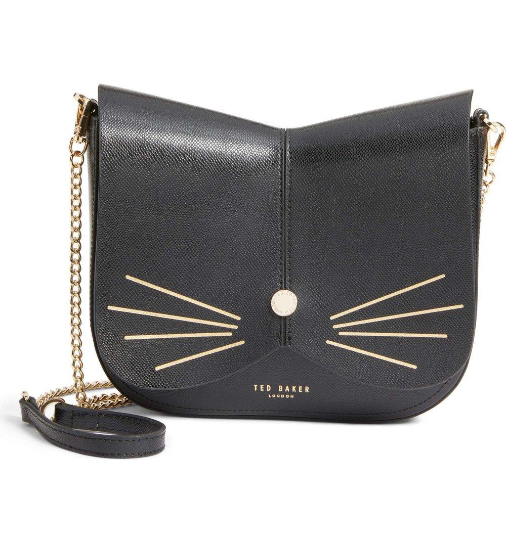 TED BAKER Kittii Cat leather crossbody bag, $195 Nordstrom.com
