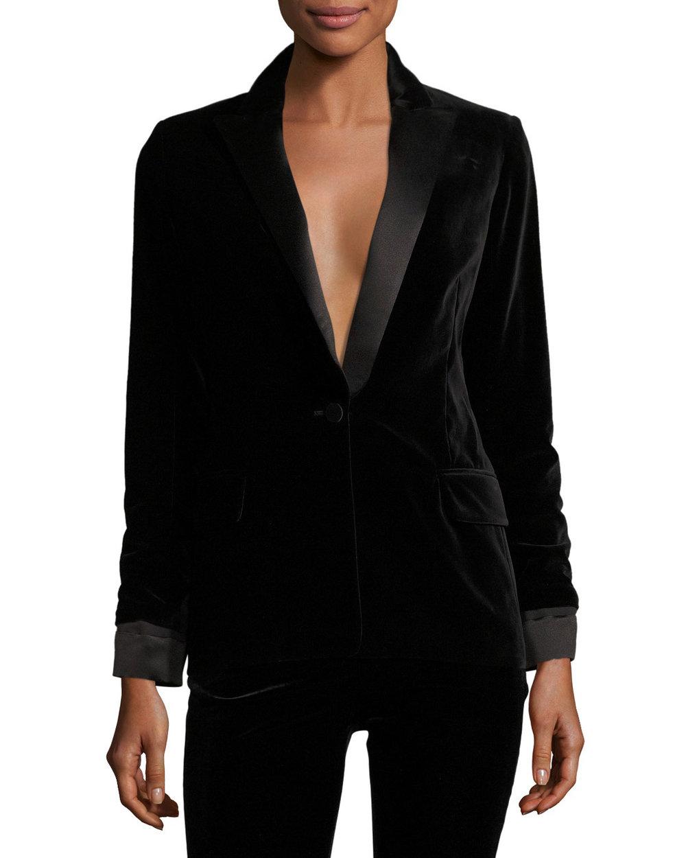 TOM FORD Satin-Lapel velvet blazer, $2750 neimanmarcus.com