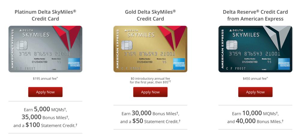 Delta Skymiles Cards