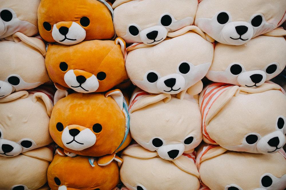 Pusheen cats and cute kawaii animals tokyo japan akihabara arcade