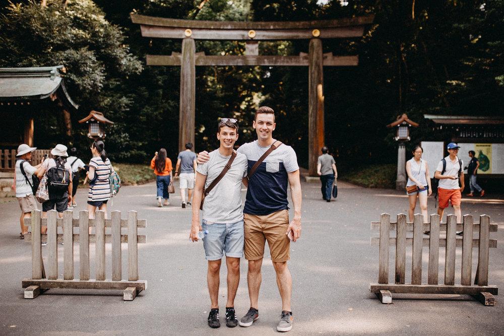 gay husbands backpackers in Yoyogi park Tokyo Japan