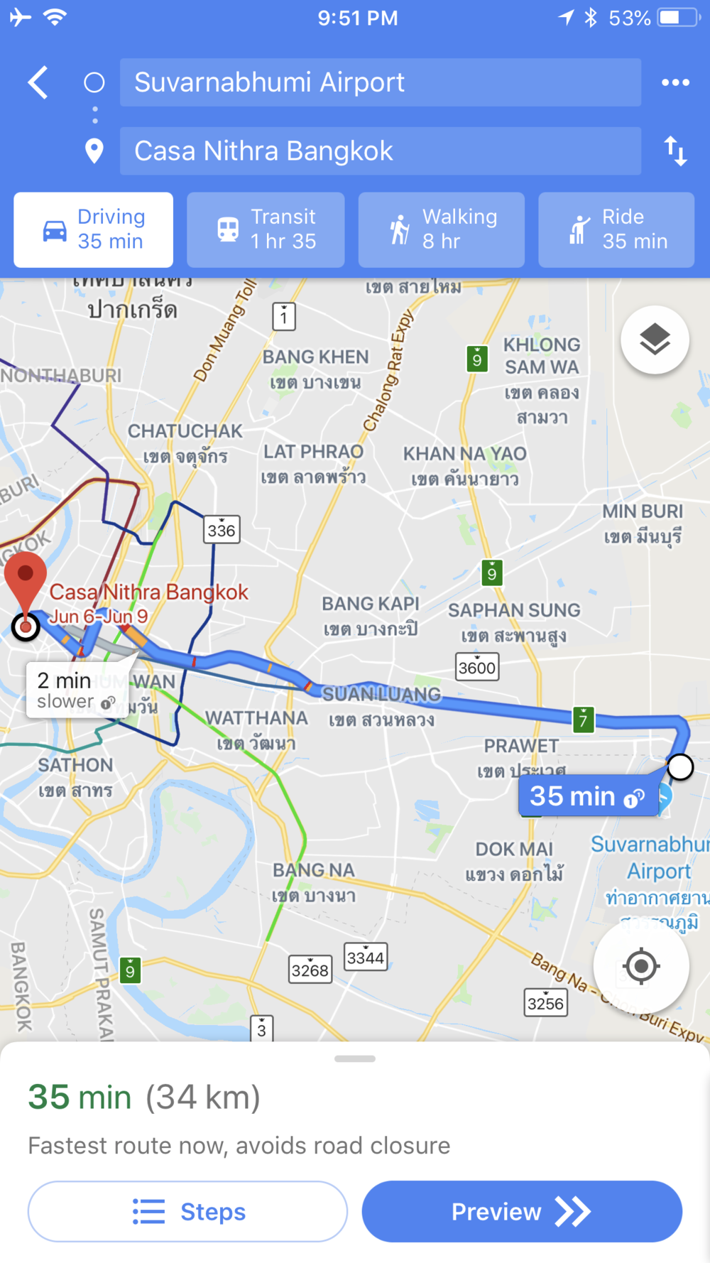 google maps BKK to Old City Bangkok.PNG
