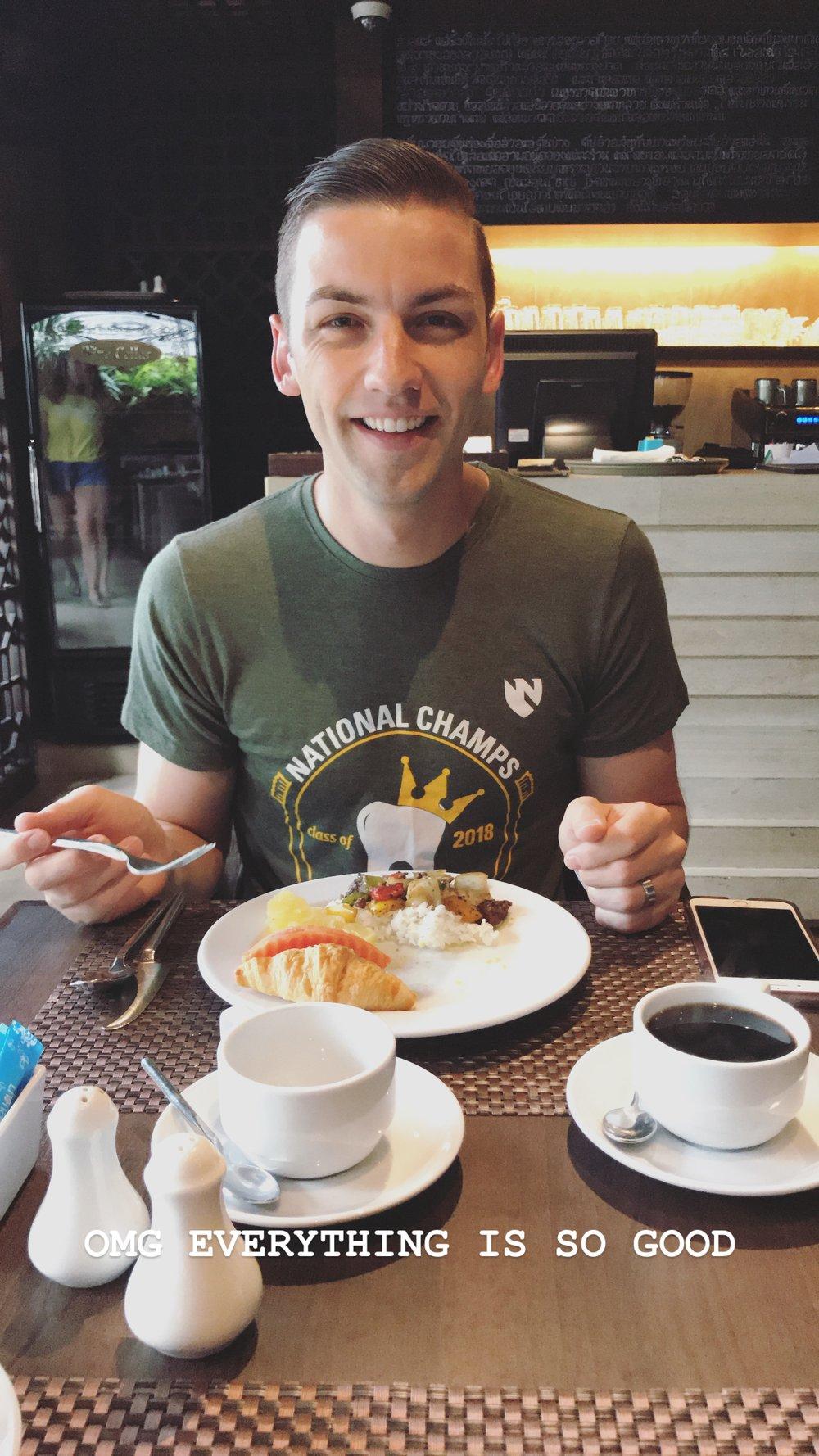 First breakfast in Bangkok.JPG