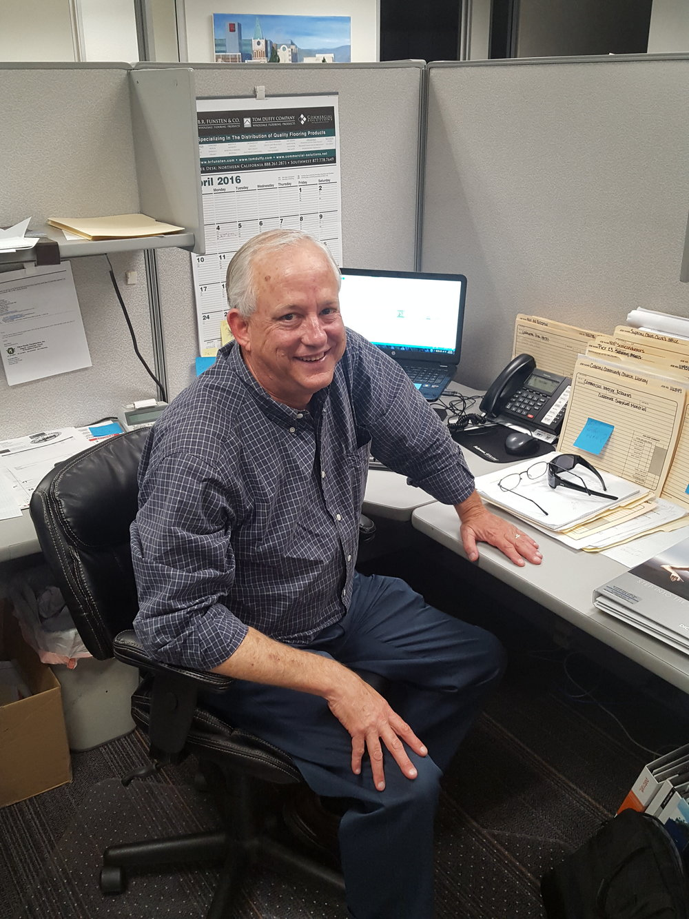 Jim Kinney, Project Manager 40 years in flooring and 3 years at FSI. JimK@flooring-solutions.com