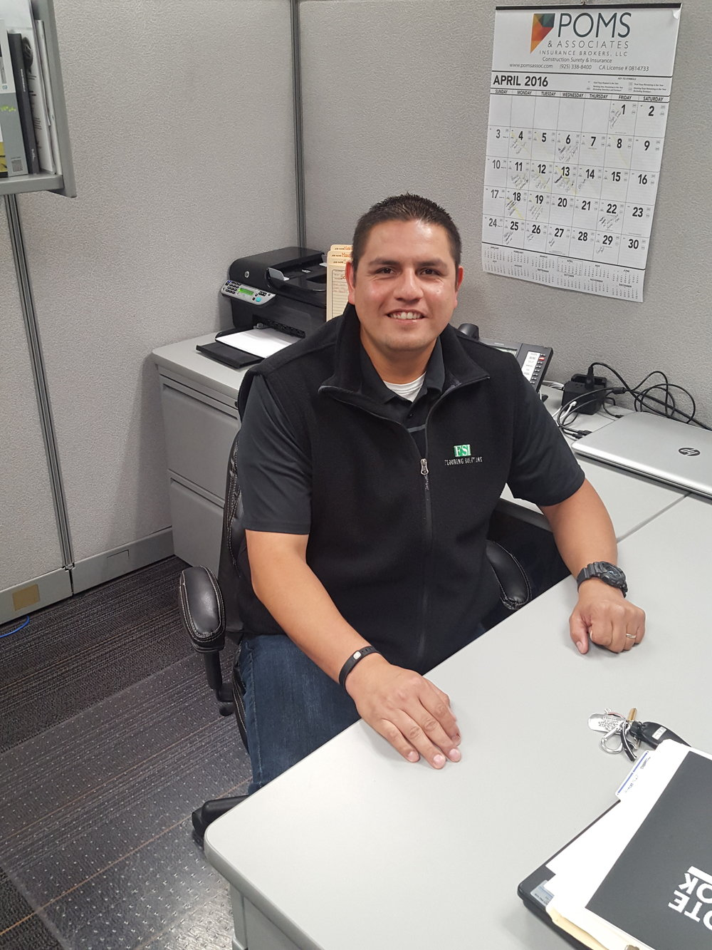 Jon Miller, Project Manager   16 years in flooring and 2 years at FSI.    Jon@flooring-solutions.com