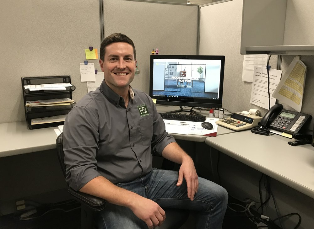 Calen Davidson, Project Manager   2 years in flooring and 2 years at FSI.    Calen@flooring-solutions.com