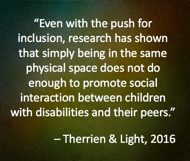Therrien, M.C.S., & Light, J. (2016). Using the iPad to facilitate interaction between preschool children who use AAC and their peers