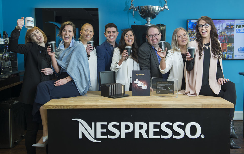 NESPRESSO - Nespresso contributes to the community by offering the best quality coffee. We believe coffee breaks are key to enriching relationships; turning a quick conversation into a long lasting connection. Coffee offers a welcome pause and an opportunity to discuss and share ideas in a relaxed manner.Gordon Thompson, Nespresso Professional