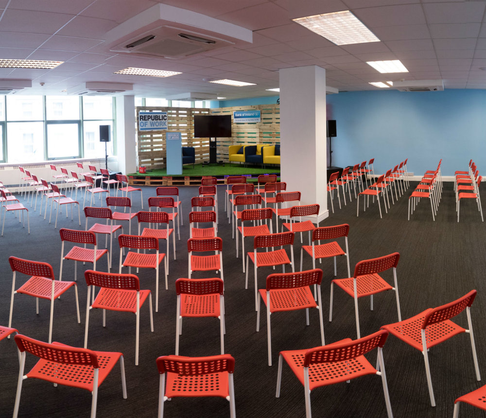 Conference & Events Centre - Host up to 150 guests in our large event space with a modern stage area and mobile 60