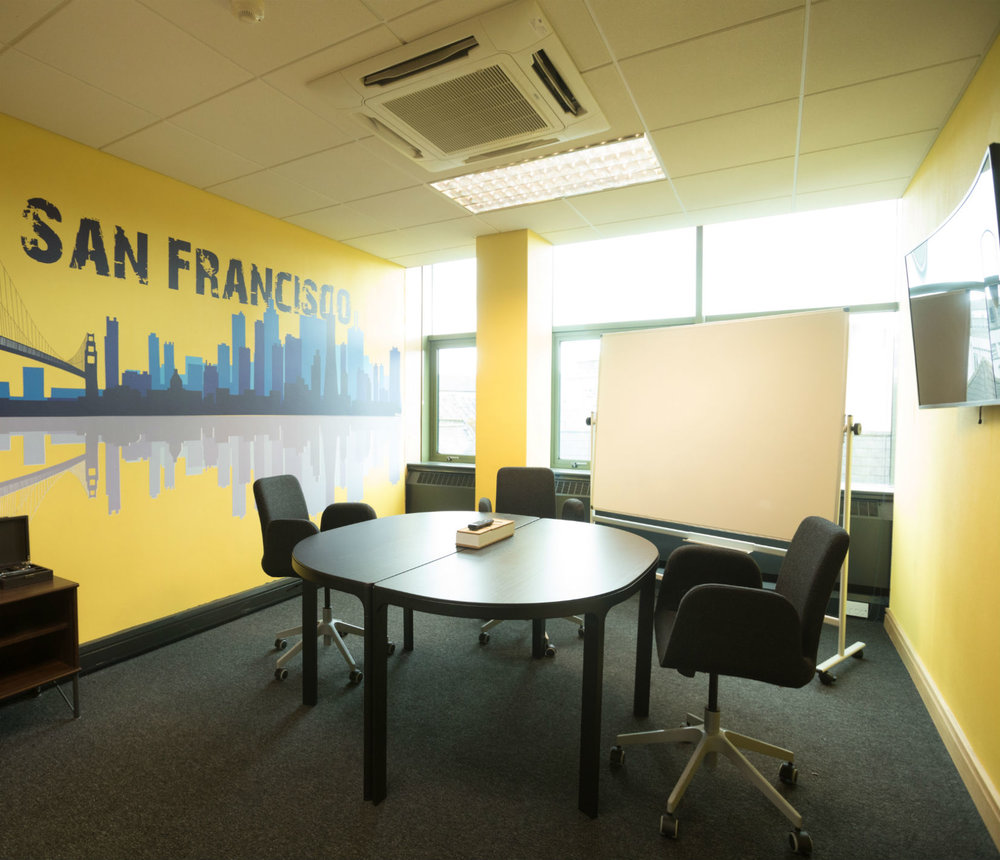 Boardrooms - We have three private meeting rooms; San Francisco, Shanghai and Cork with a Capacity of 2-10 people.Each boardroom is fully air-conditioned with 49