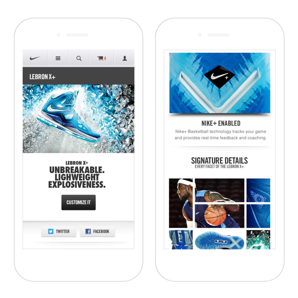 m.nike.com  / R/GA, mobile web