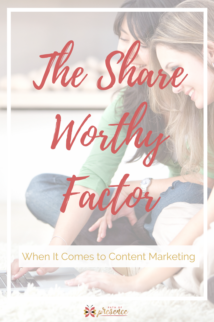 Shareworthy-Content-Social-Media-Marketing // sharable content // content creation for social media // content marketing tips // content marketing for the solopreneur