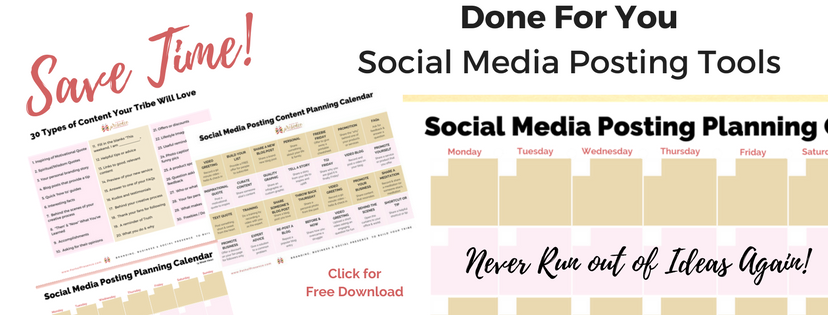 Social Media Posting tools // social media marketing tools // social media posting calendar // social media 30 types of content // content posting strategy for social media marketing // Done For You Social Media Calendars, content and posting ideas - free