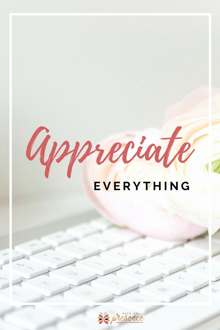 Practice Gratitude - Appreciate EVERYTHING - Path of Presence