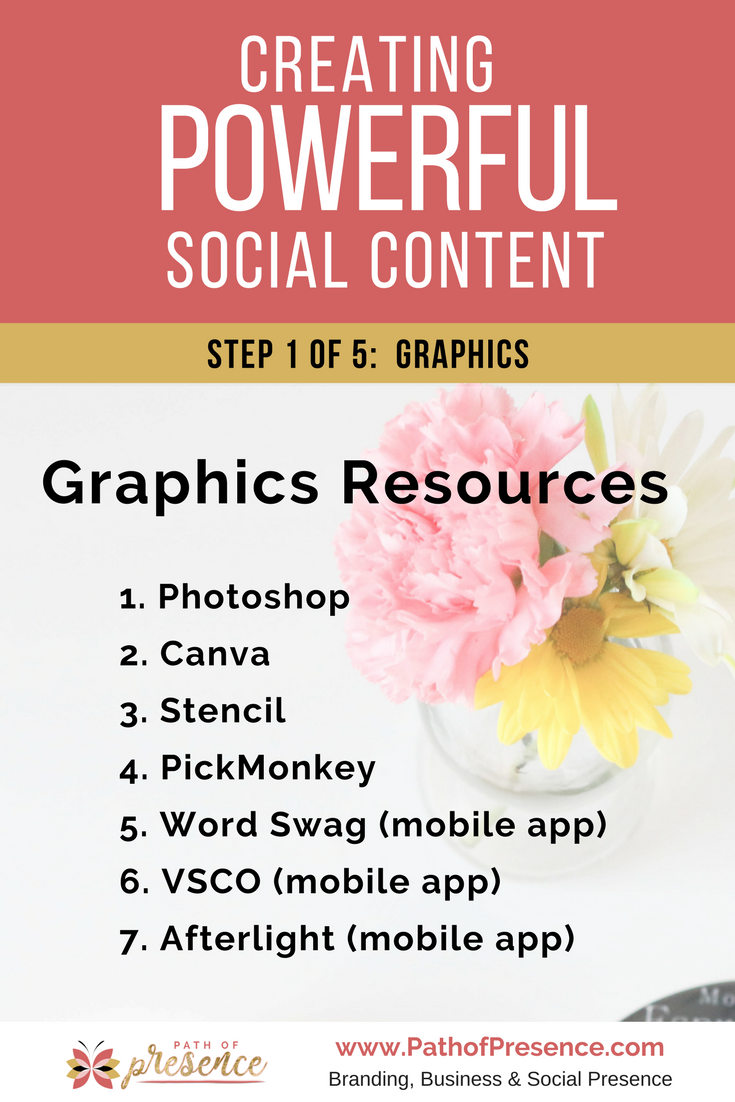 Graphics resources for creating power social media content