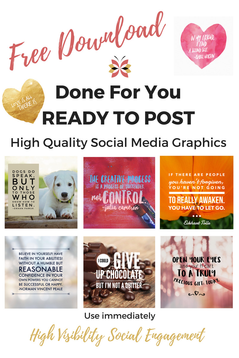 Social Media Marketing Strategy Done for You ready to post graphics for social media